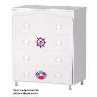 Baby Dresser with Four Drawers and Decoration