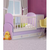 Baby Convertible Colour Combinations Relief Front Swing Bed Gergana Plus